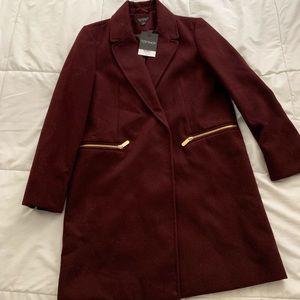Topshop wine pea coat 🧥